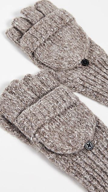 Carolina Amato Knit Texting Mittens