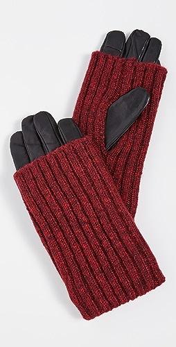 Carolina Amato - Touch Tech Wood Smoke Overlay Gloves