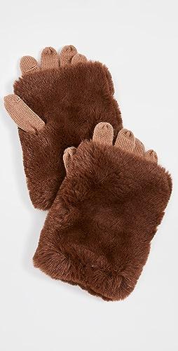 Carolina Amato - Short Hair Fold Over Texting Gloves