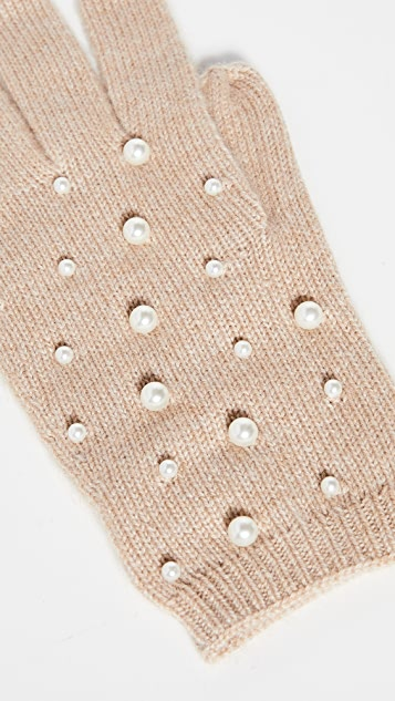 Carolina Amato Pearl Scatter Gloves
