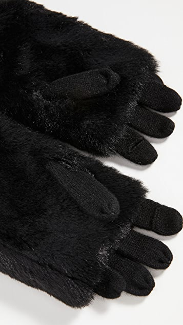 Carolina Amato Fold Over Texting Gloves