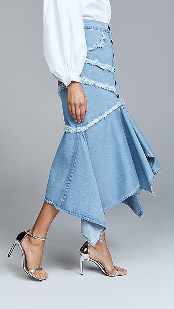 C/Meo Collective Stranded Midi Skirt