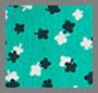 зеленый с рисунком в мелкий цветочек