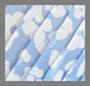 Синий с абстрактным цветочным рисунком