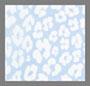 蓝色抽象花卉