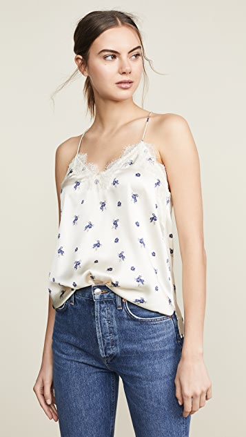 CAMI NYC Racer Charmeuse Top