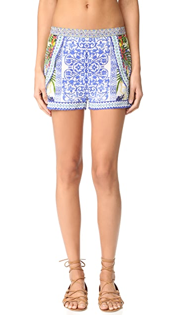 Camilla Waisted Shorts with Side Overlay