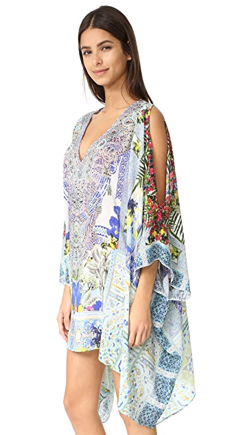 Camilla Split Shoulder Short Caftan
