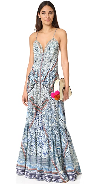 Camilla Tiered Shoestring Dress