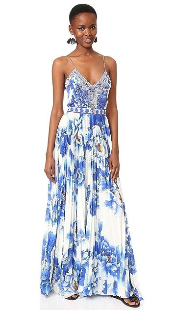 Camilla Плиссированное платье Ring of Roses