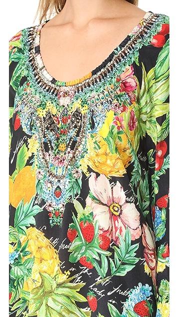 Camilla Call Me Carmen Frill Dress