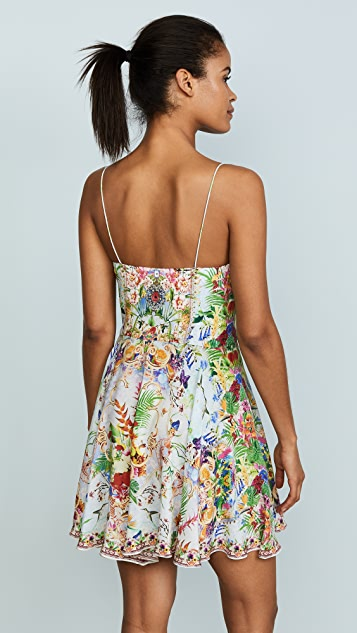 Camilla Miranda's Diary Short Tie Front Dress