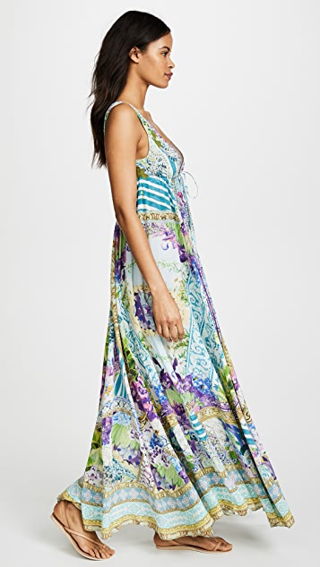 Camilla Salvador Fields Forever Drawstring Dress