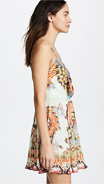 Camilla Slice Of Paradise Tie Front Dress