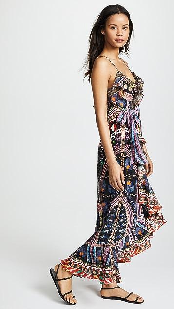 Camilla Dancing on My Own Long Wrap Dress