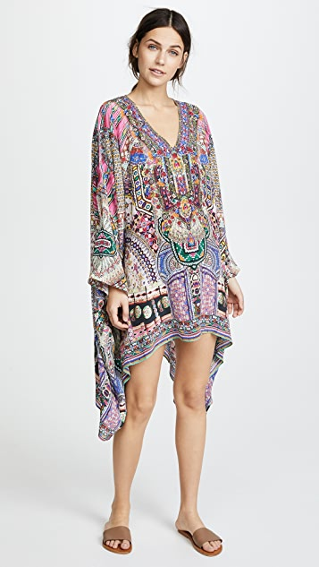 Camilla Kalbelia Queen Split Shoulder Short Caftan