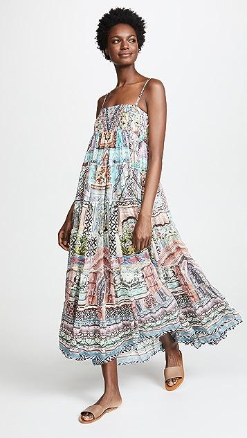 Camilla Lady Lake Tiered Hem Maxi Skirt