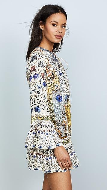 Camilla Frill Hem Long Sleeve Dress