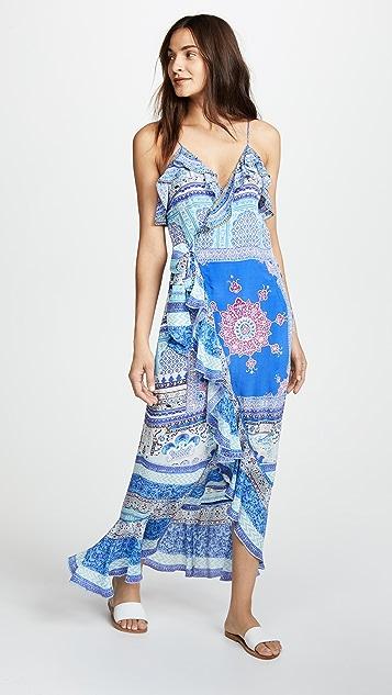 Camilla Uneven Hem Dress with Frill