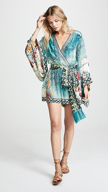 8280ae27aec Camilla Kimono Sleeve Playsuit with Obi Belt