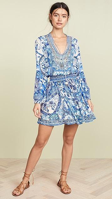 Camilla Shirred Relaxed Short Dress