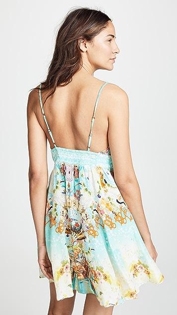 Camilla Мини-платье с завязкой спереди