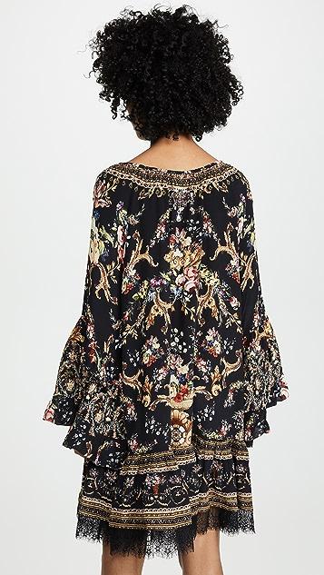 Camilla A 字剪裁流苏连衣裙