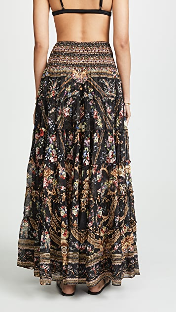 Camilla Sheer Tiered Circle Skirt