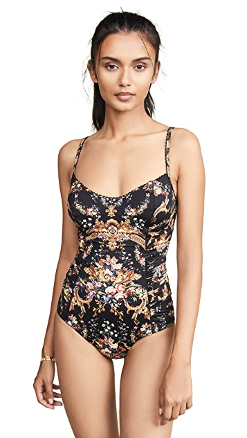Camilla Lace Trim Panelled One Piece