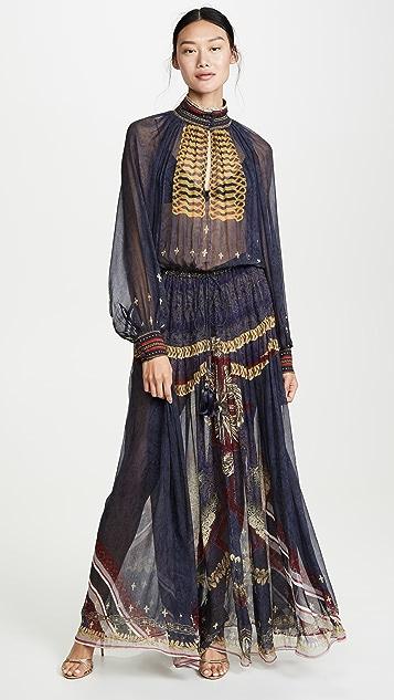 Camilla Long Sleeve Dress with Collar