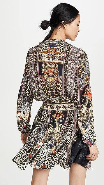 Camilla Свободное короткое платье со сборками