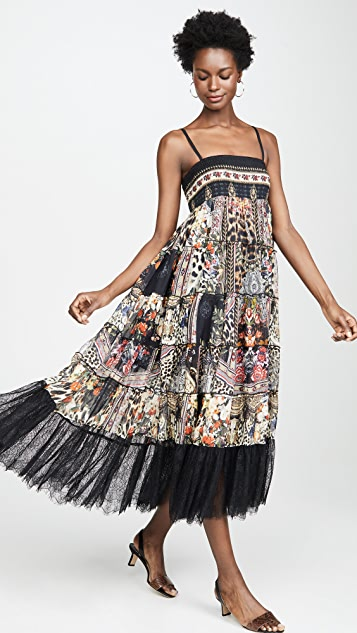 Camilla Sheer Tiered Circle Skirt / Dress
