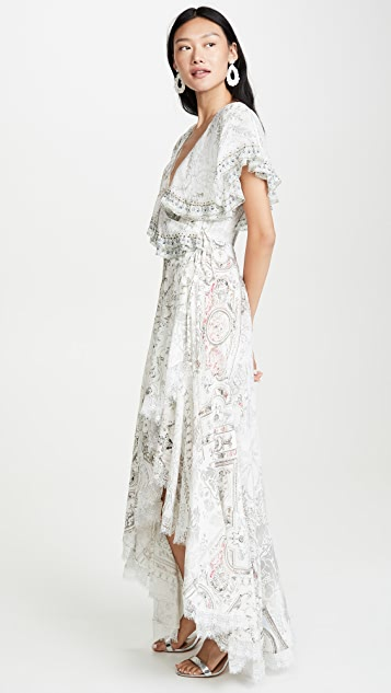 Camilla Frill Sleeve Long Dress