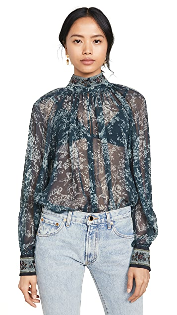 Camilla Raglan Button Up Shirt