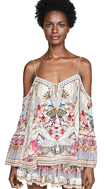 Camilla Montmartre Heart Drop Shoulder Top