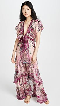 La Belle Tie Front Maxi Dress