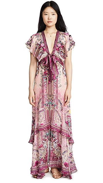 Camilla La Belle Tie Front Maxi Dress
