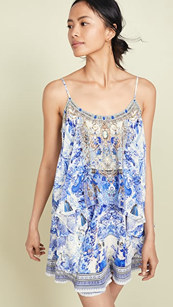 Camilla Painted Provincial Flared Romper