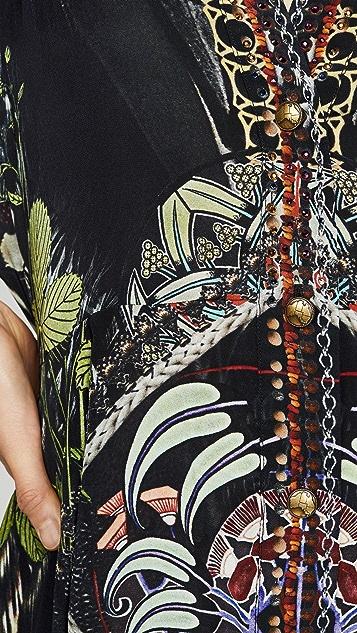 Camilla Платье с пуговицами и квадратными рукавами