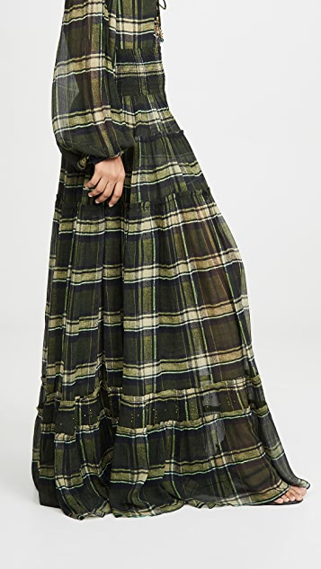 Camilla 4 层褶半身裙