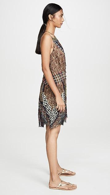 Camilla Короткое платье с фигурным поясом