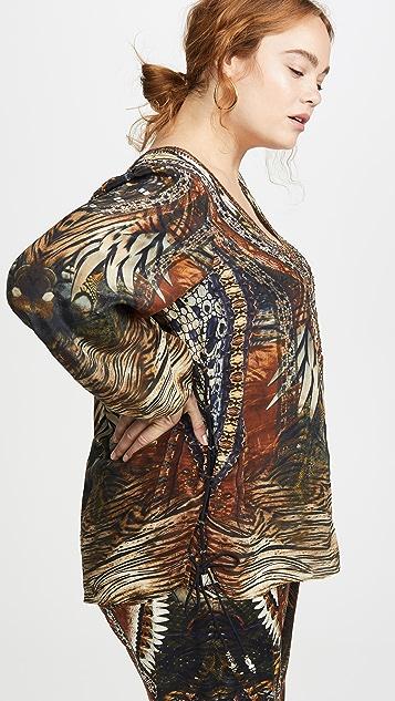 Camilla 侧边系带女式衬衫