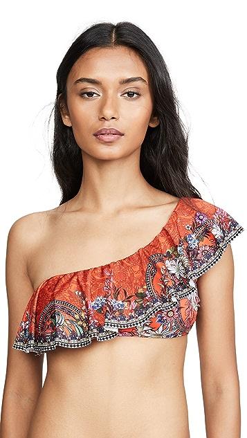 Camilla One Shoulder Frill Bikini Top