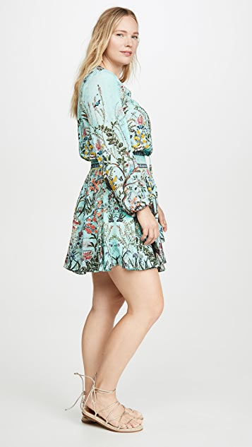 Camilla 抽褶休闲短连衣裙