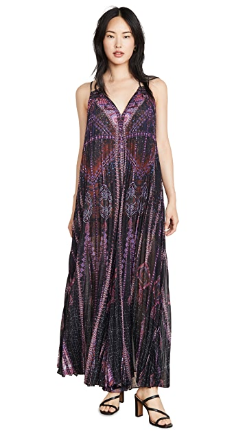 Camilla Pleated Jumpsuit with Yoke
