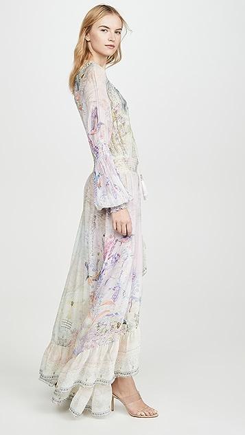 Camilla Blouson Sleeve Wrap Dress