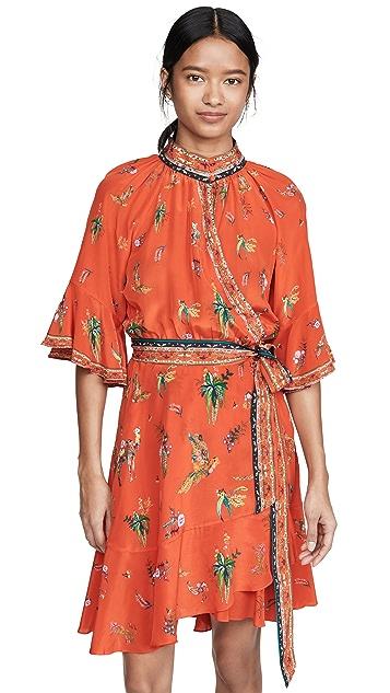 Camilla Raglan Sleeve Wrap Dress