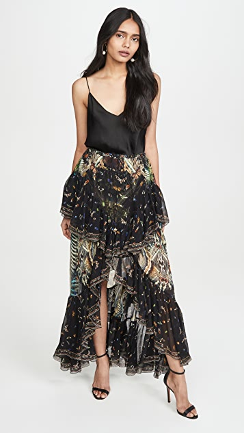 Camilla 双层流苏半身长裙