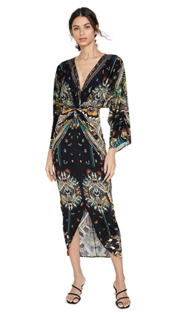 Camilla Long Split Front Twist Dress