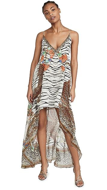 Camilla Flared Mini Dress with Sheer Overland